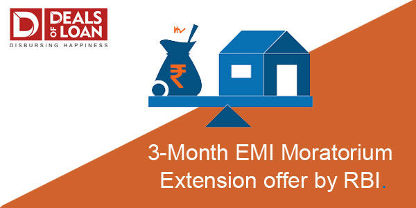 3 Month EMI Moratorium Extension offer by RBI